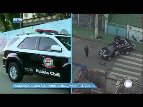 Megaoperação da polícia prende 10 pessoas nesta quinta-feira (19)