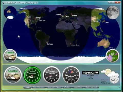 ActiveEarth World Time and Weather Clock