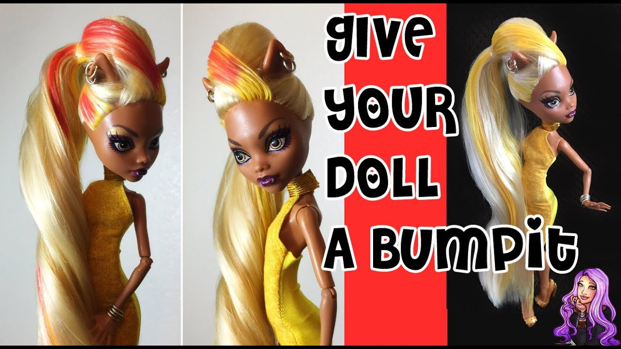 How to give your monster high doll a bumpit hairstyle youtube how to give your monster high doll a bumpit hairstyle winobraniefo Image collections