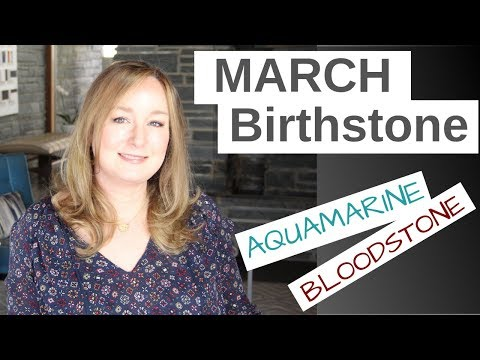 MARCH Birthstone: Aquamarine And Bloodstone | Jill Maurer