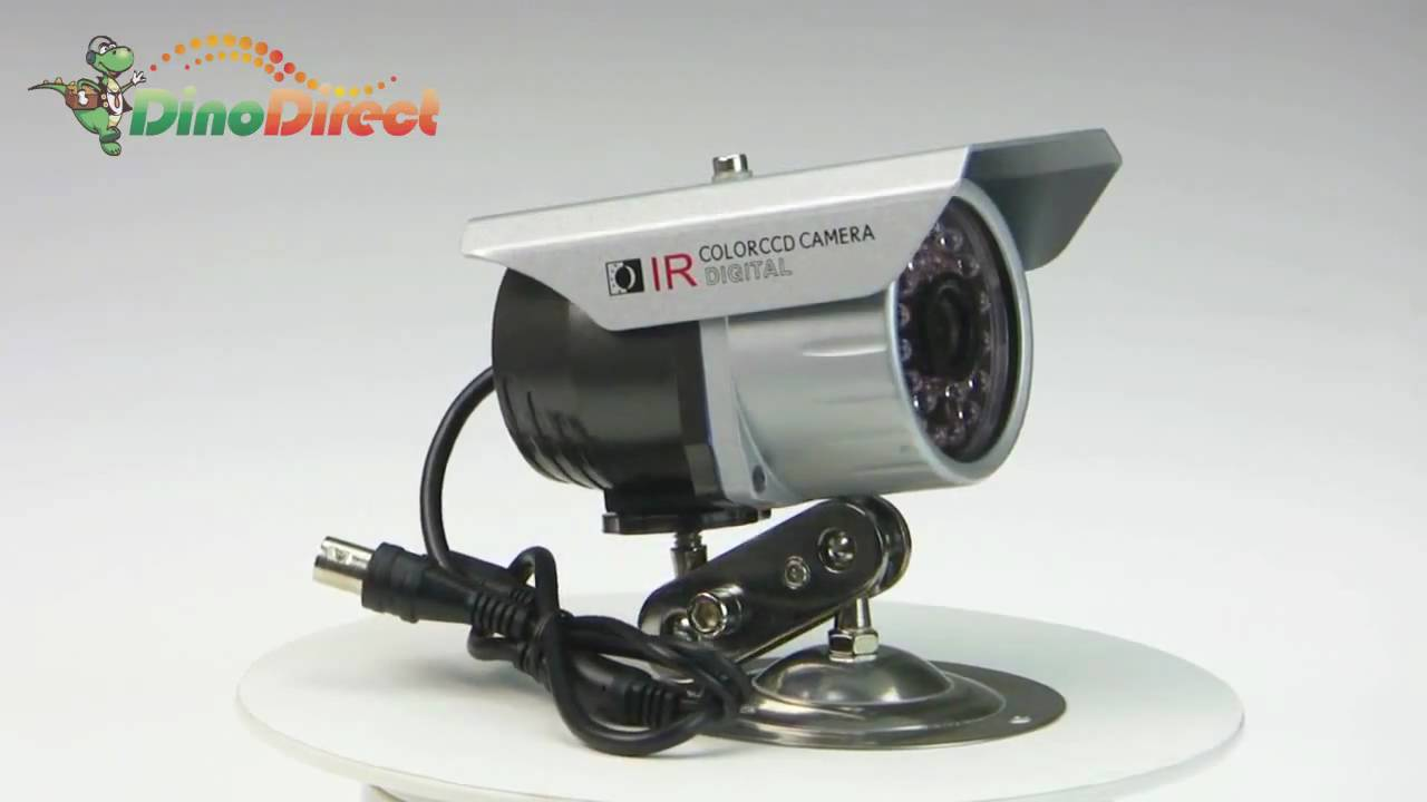 夏普ccd_1/4 Inch Sharp 420TVL CCD 28 PCS Leds 6mm Lens IR Night Vision Waterproof - YouTube