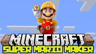 BECOME SUPER MARIO!!! - Super Mario Maker - Minecraft 1.9 One Command Block Review