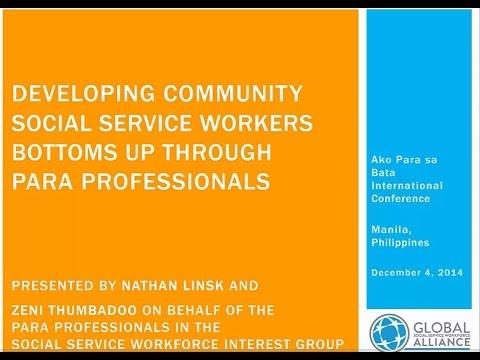 Webinar 18 Developing Community Social Service Workers