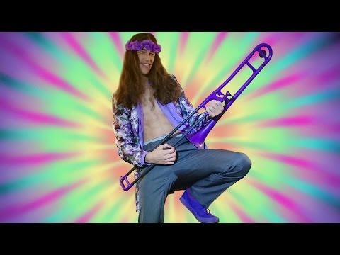 Jimi Hendrix  Purple Haze on a Purple Trombone!!