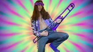 Jimi Hendrix - Purple Haze on a Purple Trombone!!