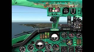 TU 134 A Flightsimulator X- Plane, Demo