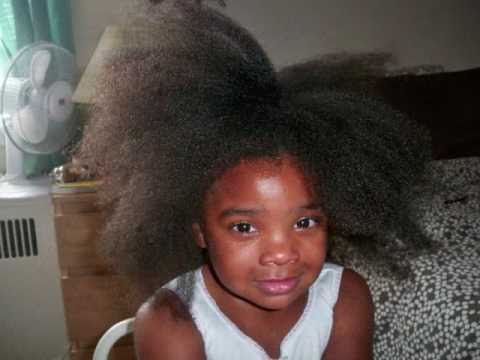 my daughter s 1st blow out natural hair youtube