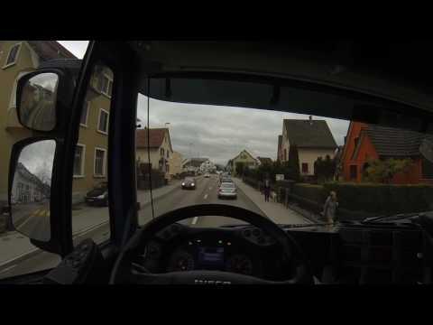 Truck driver's view (POV, Switzerland): Iveco Stralis 450 EEV