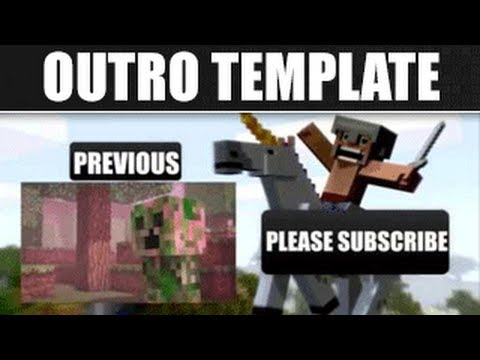 Free Outro #4 | Sony Vegas Template \\ Minecraft \\ Outro Template [FREE DOWNLOAD]