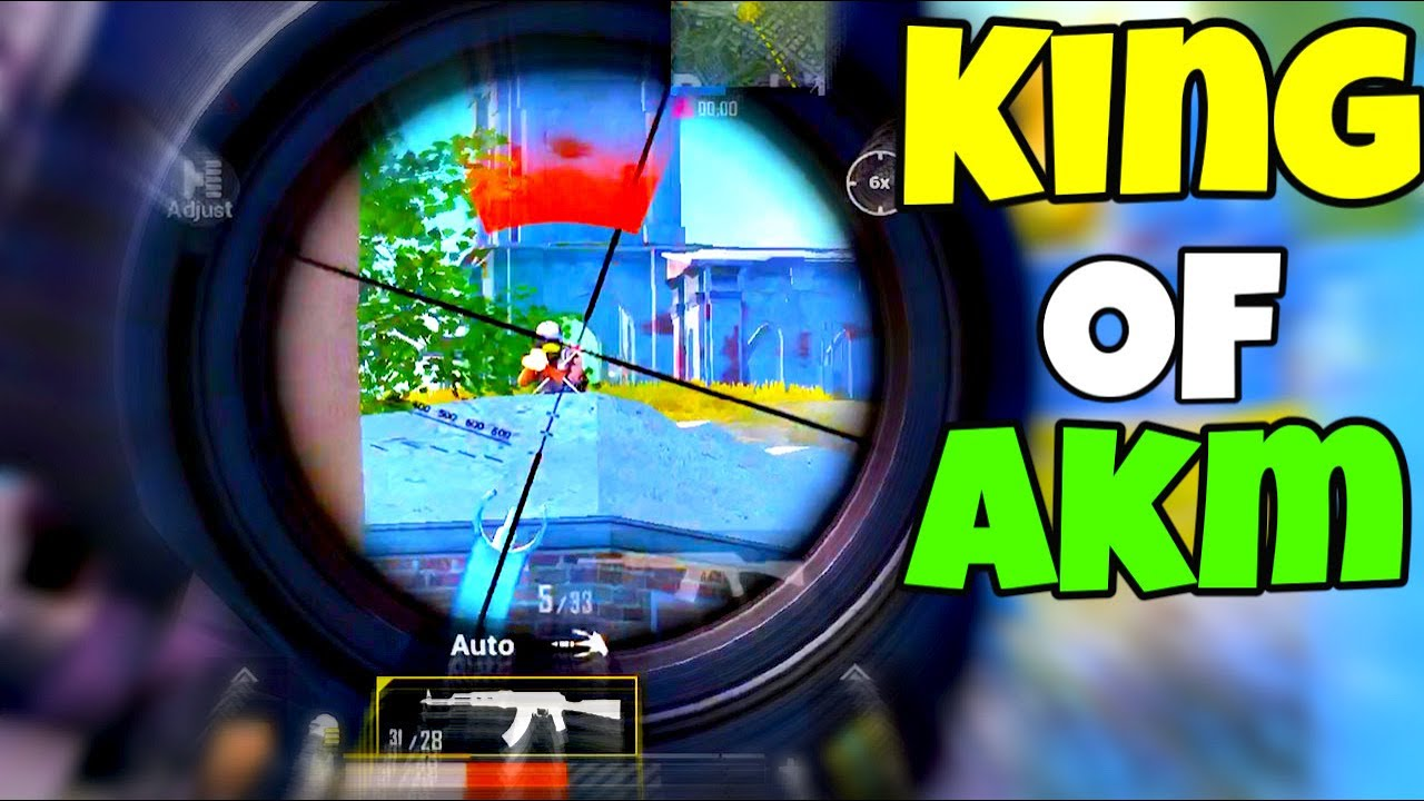 KING of AKM + 6x SCOPE NO RECOIL | PUBG Mobile