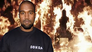 Kanye West Lights Himself ON FIRE At Donda Listening Party