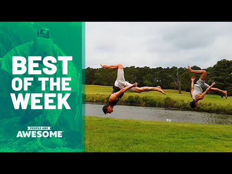 Best of the Week: Synchronized Flips, Sandboarding & More | People Are Awesome