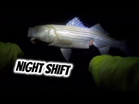 Surf Fishing At NIGHT For STRIPERS!(south Shore) - Long Island NY