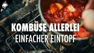 Outdoor Küche: Kochrezept für Tomaten, Paprika, Kartoffel Eintopf zum draußen kochen