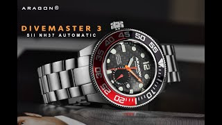 ARAGON® Divemaster 3 NH37 Facebook Live Review