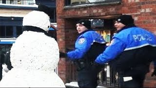 SCARY SNOWMAN Hidden Camera Practical Joke 2011 FULL SEASON (38 mins)