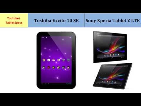Toshiba AT300SE Vs Sony Xperia Tablet Z LTE, all specs