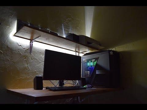 Минималистичный компьютерный стол из массива своими руками за копейки