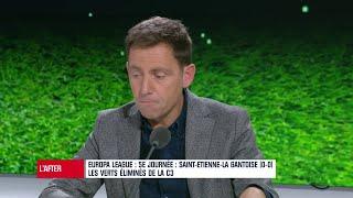 """VIDEO: Ligue Europa : """"Le football français est en train de mourir à petit feu"""" s'indigne Riolo"""