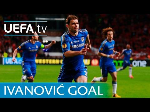 Branislav Ivanović - Chelsea v Benfica - UEFA Europa League winning goal