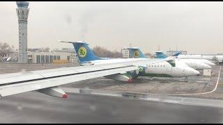 [4K] Uzbekistan A320 Взлёт из Ташкента