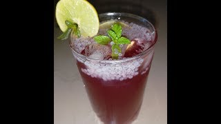 Cranberry juice with basil seeds/Refreshing cranberry juice by cooking with Girija