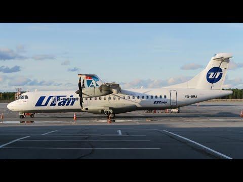ATR 72-500 а/к Utair | Рейс Сургут - Тюмень