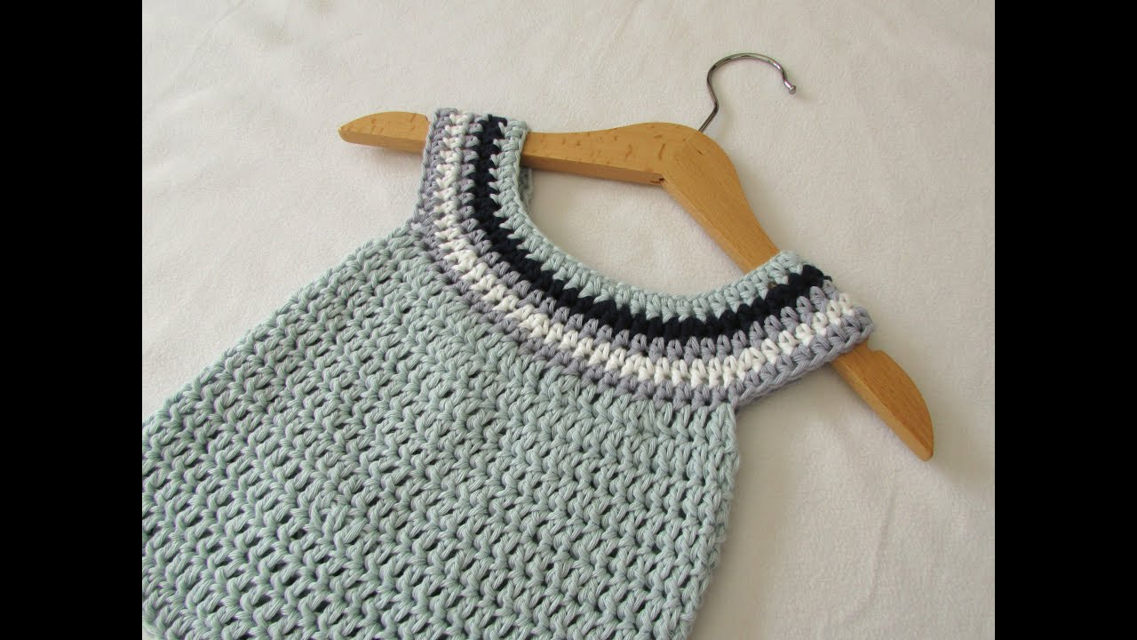 Very easy crochet circle neck baby dress tutorial youtube bankloansurffo Choice Image