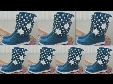 Sandalias Y Flores Tejidas Botas Crochet Uriol Todas A By Shirley oedCBrxW