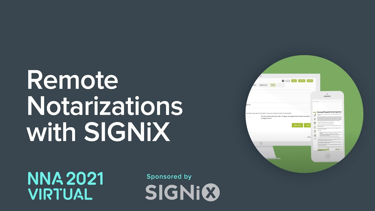 Remote Notarizations with SIGNiX