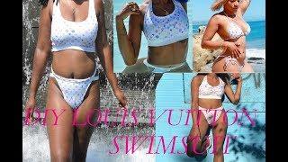 diy louis vuitton swimsuit pinkplasticbabes inspired