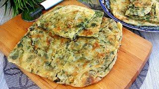 Мягкая ,Слоистая Вкуснота из Доступных продуктов! Катлама с зеленью и сыром