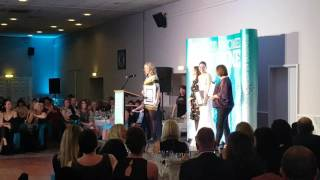 Winning the woman in construction award at the Kent Women in Business awards 2016