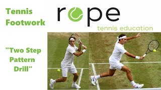 Tennis Footwork Drills - Net Game - Volley Two Step Pattern Drill