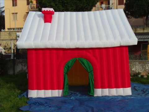 Casetta Di Natale Gonfiabile : Casetta di natale gonfiabile youtube