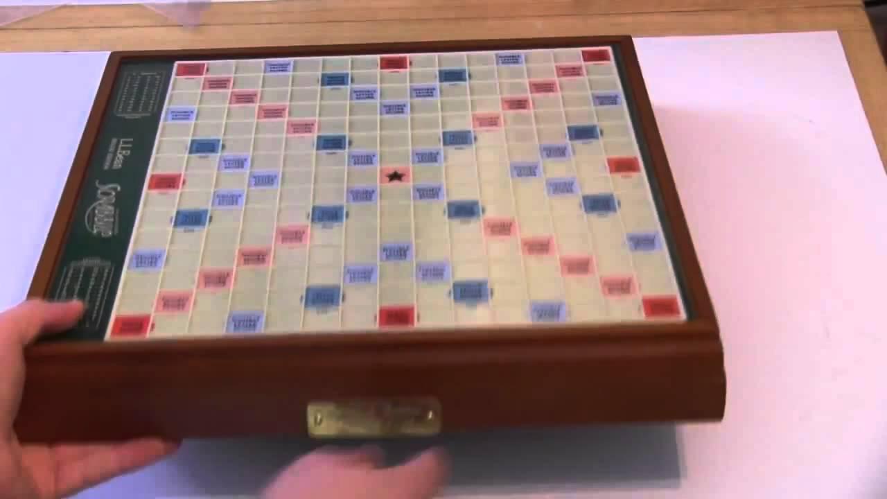 LL Bean Deluxe Scrabble Board Review   YouTube