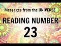 READING # 23 * YOUR MESSAGE FROM THE UNIVERSE