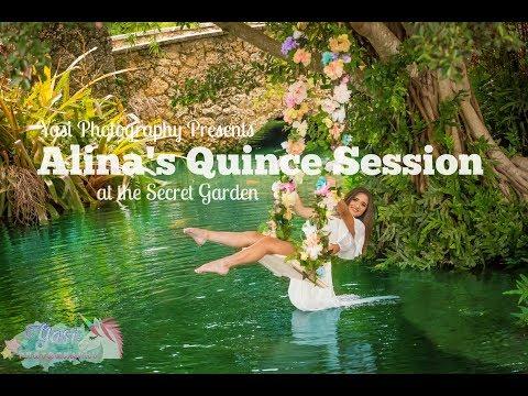 Alina's Quinceñera Session At The Secret Gardens Miami