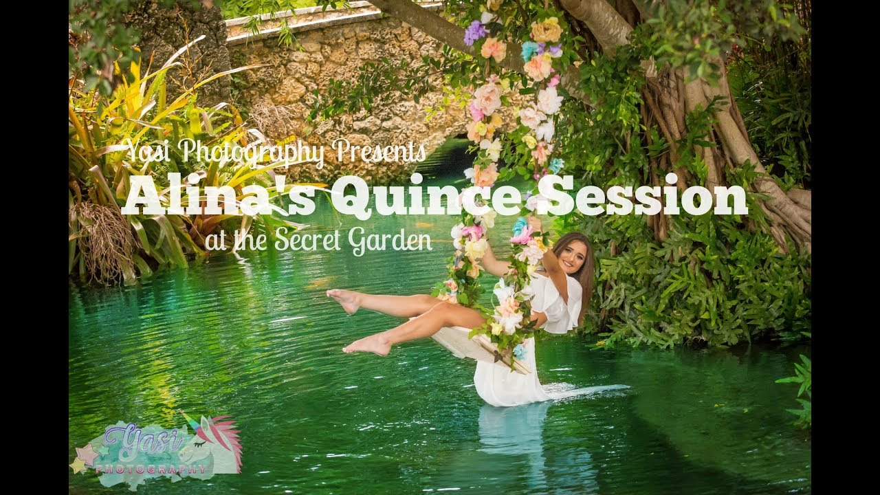 Alina 39 S Quince Era Session At The Secret Gardens Miami Youtube