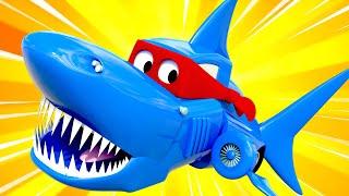 Spécial semaine du requin - Super Truck se transforme en camion requin pour faire un film