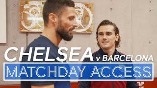 🎥Matchday Access | Chelsea v Barcelona: Abraham & Barkley🔥