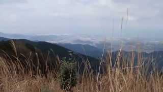 西山(鮎坂山)の山頂から眺める風景 福岡県古賀市