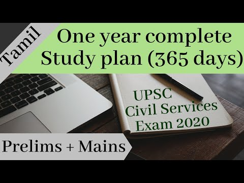 One year study plan in Tamil for UPSC Civil Services Exam 2020