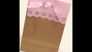 DIY: Cute Paper Lace Gift Bag | ShowMeCute