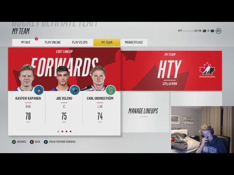 NHL 18, I lose I Quick Sell Whole Team
