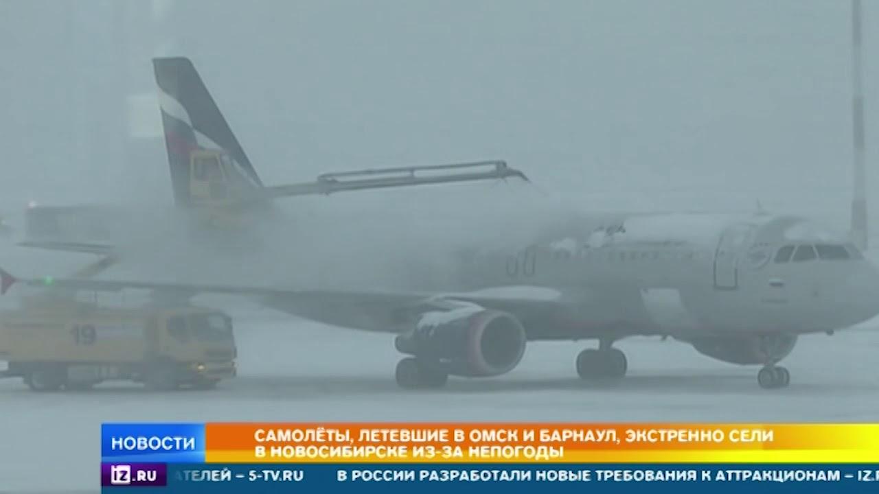 Самолеты, летевшие в Омск и Барнаул, экстренно сели в Новосибирске из-за непогоды