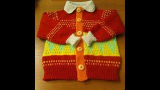 Детская кофточка. Реглан сверху  Часть 1 #мастеркласс #красивыйузор #вязание #knitting #лучшее #мк