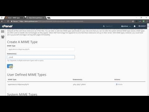 How to create a new MIME type in cPanel - PlotHost KB/Blog
