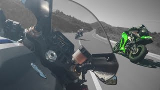 Yamaha R1M Vs Kawasaki Ninja ZX10R GoPro Motorcycle Gyro Stabilizer Video