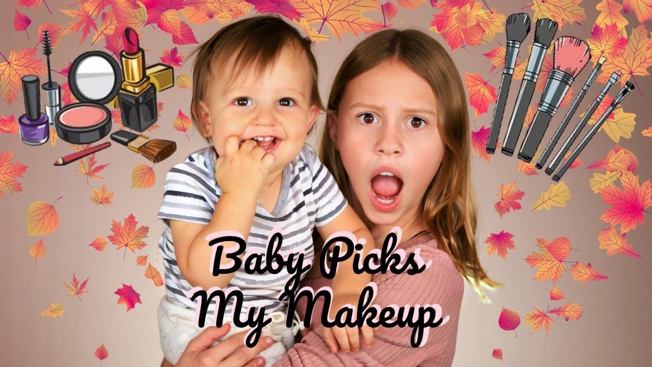 Baby Picks My Makeup! Funny Kids Makeup!